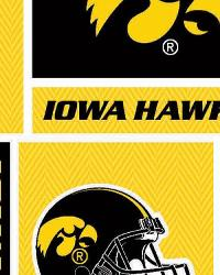 Iowa Hawkeyes Block Cotton Print by