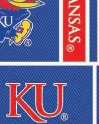 Kansas Jayhawks Block Cotton Print by