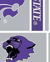 Kansas State Wildcats Block Cotton Print by