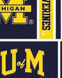 Michigan Wolverines Block Cotton Print by