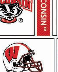 College Cotton Print Fabric  Wisconsin Badgers Block Cotton Print