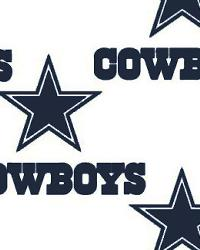 Dallas Cowboys Cotton Print White by