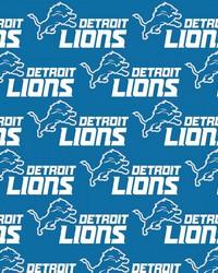 Detroit Lions Cotton Print by