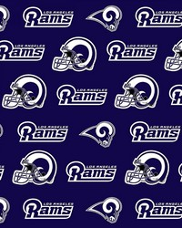 Los Angeles Rams Cotton Print  by