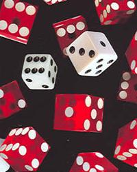 Foust Textiles Inc Game of Chance Dice Black Fabric