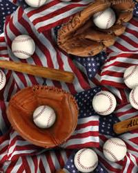 Foust Textiles Inc Baseball Multi Cotton Print Fabric