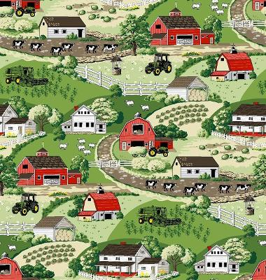 Foust Textiles Inc John Deere Farm Scenic  Search Results
