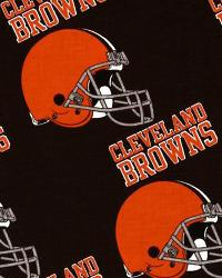 Cleveland Browns Cotton Print by