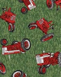 Foust Textiles Inc International Harvester Green Fabric