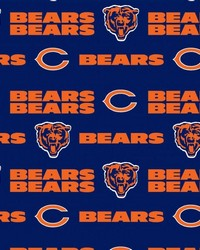 Chicago Bears Cotton Print by