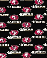 Foust Textiles Inc San Francisco 49ers Cotton Print Fabric