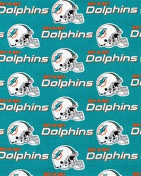 Miami Dolphins Cotton Print by
