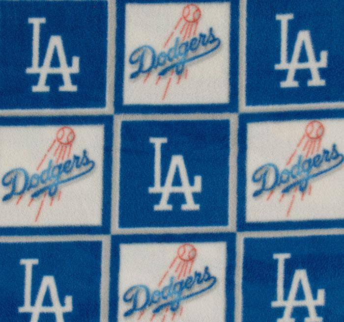 Foust Textiles Inc Fabrics Los Angeles Dodgers Block Fleece