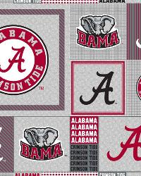 Beige College Fleece Fabric  Alabama Crimson Tide Back to School Fleece