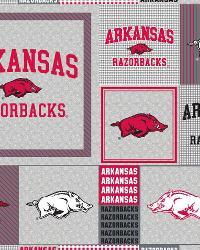 College Fleece Fabric  Arkansas Razorbacks Back to School Fleece