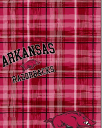 Arkansas Razorbacks Plaid Cotton Print by