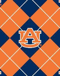 College Fleece Fabric  Auburn Tigers Argyle Fleece