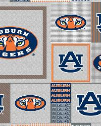 College Fleece Fabric  Auburn Tigers Back to School Fleece