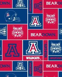College Fleece Fabric  Arizona Wildcats Block Fleece