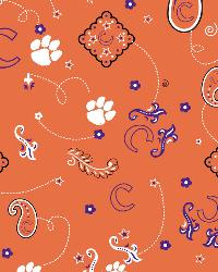 Clemson Tigers Bandana Cotton Print by