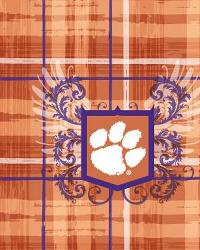 Clemson Tigers Plaid Cotton Print by