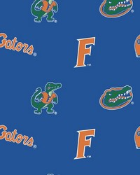 Florida Gators Cotton Print - Blue by