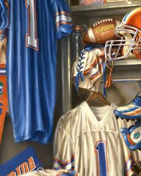 Florida Gators Locker Room Panel Fleece by