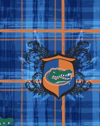 Foust Textiles Inc Florida Gators Plaid Cotton Print Fabric