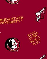 Florida State Seminoles Cotton Print by
