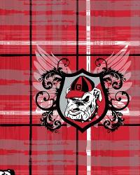 Georgia Bulldogs Plaid Cotton Print by