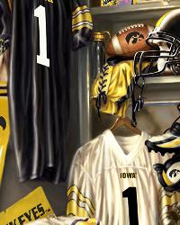 Iowa Hawkeyes Locker Room Fleece Panel by