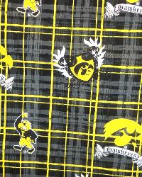 Iowa Hawkeyes Plaid Cotton Print by