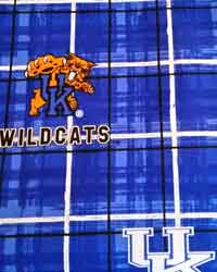 Kentucky Wildcats Plaid Cotton Print by