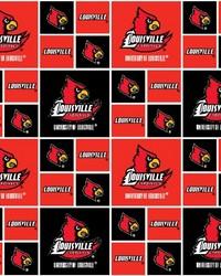 Louisville Cardinals Cotton Block Print by