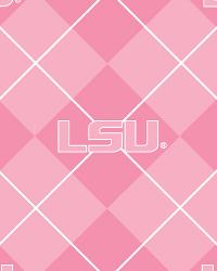 Pink Louisiana State Tigers Argyle Fleece by
