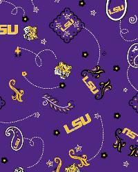 Louisiana State Tigers Bandana Cotton Print by