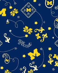 Michigan Wolverines Bandana Cotton Print by
