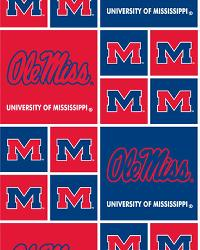 Mississippi Rebels Cotton Print by
