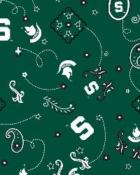 Michigan State Spartans Bandana Cotton Print by