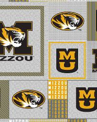Beige College Fleece Fabric  Missouri Tigers Back to School Fleece