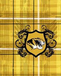 Missouri Tigers Plaid Cotton Print by
