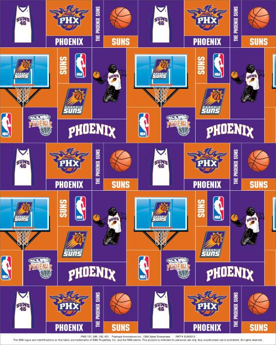 Foust Textiles Inc Phoenix Suns Fleece Fabric