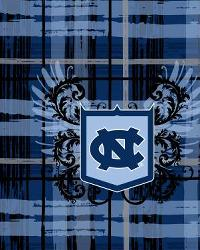 North Carolina Tar Heels Plaid Cotton Print by