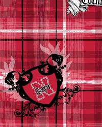 Nebraska Cornhuskers Plaid Cotton Print by