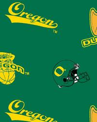 Oregon Ducks Cotton Print by