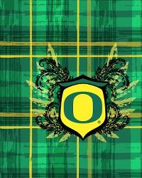 Oregon Ducks Plaid Cotton Print by