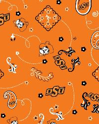 Oklahoma State Cowboys Bandana Cotton Print by