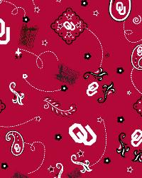 Oklahoma Sooners Bandana Cotton Print by