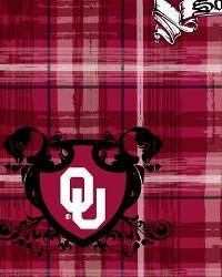 Oklahoma Sooners Plaid Cotton Print by