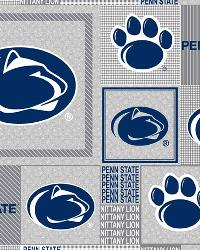 Beige College Fleece Fabric  Penn State Lions Back to School Fleece